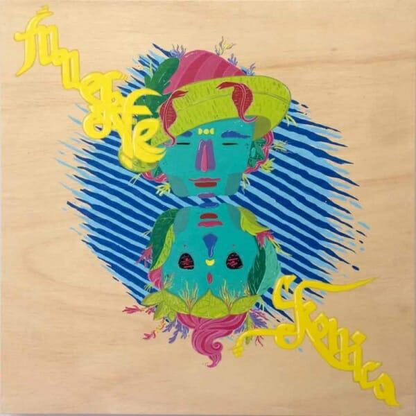 Muerte Crónica, acrylic on canvas, 80 x 80 cm. 2016.