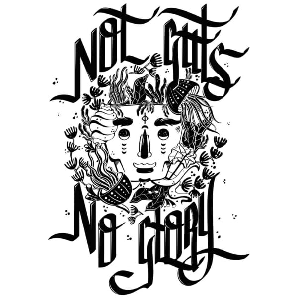 No Guts No Glory, 50 x 70, 300 gr. paper Screen print, 2017. Limited to 50 pieces.