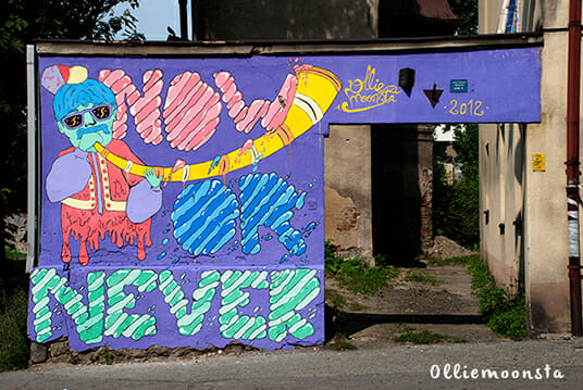 Now or never, mural painting